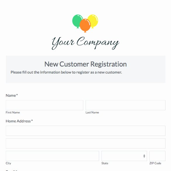New Customer form Template Best Of New Customer Questionnaire Template New Customer form