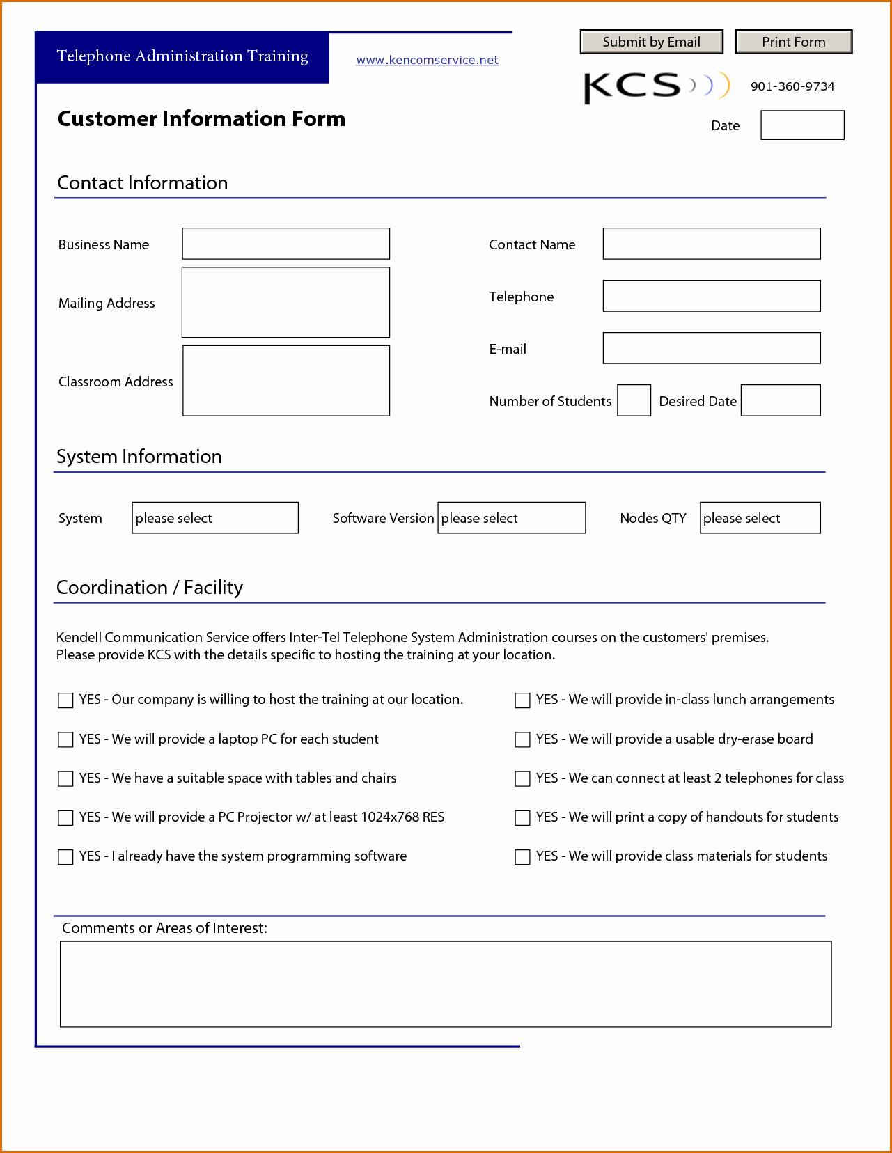 New Customer form Template Fresh 13 Customer Information form Template