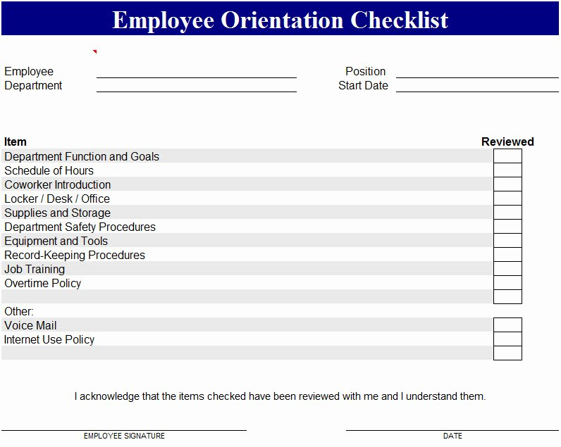 New Employee orientation Template Beautiful Employee orientation Template My Excel Templates