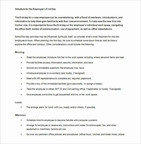 New Employee orientation Template Fresh 10 orientation Schedule Templates & Samples Doc Pdf