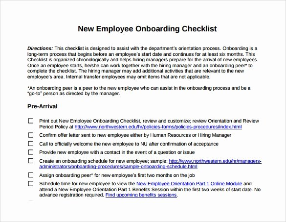New Employee orientation Template Lovely 13 New Hire Checklist Samples