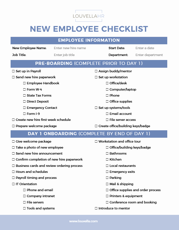 New Hire Checklist Template Awesome Checklists Archives Louvellahr Member Site