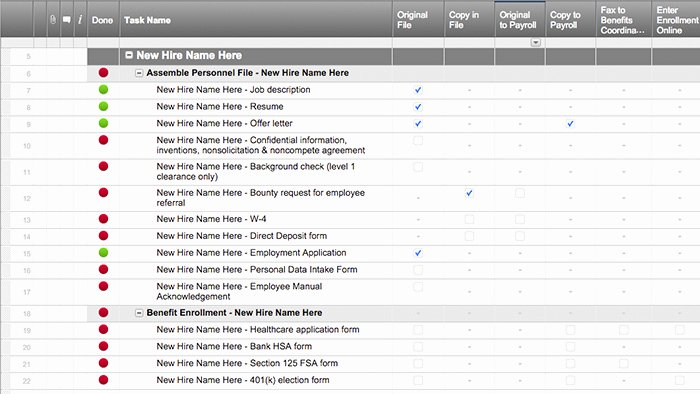 New Hire Checklist Template Awesome Smartsheet