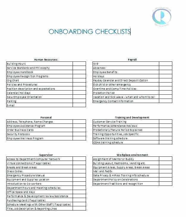 New Hire Checklist Template New Physician Onboarding Checklist Template – Homefitfo