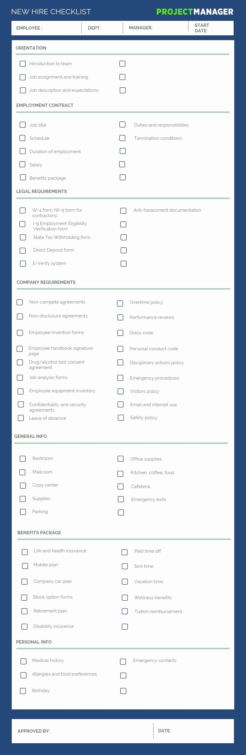 New Hire Checklist Template Unique the Perfect New Hire Checklist Use This Free Template