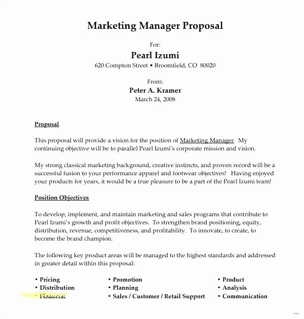 New Position Proposal Template Awesome Position Proposal Template New Position Proposal Template