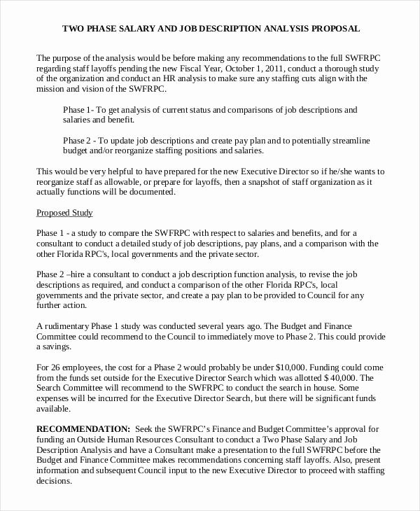 New Position Proposal Template Inspirational Job Proposal Template 18 Free Word Pdf Document