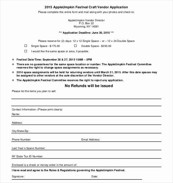 New Vendor form Template Beautiful Vendor Application Template – 9 Free Word Pdf Documents
