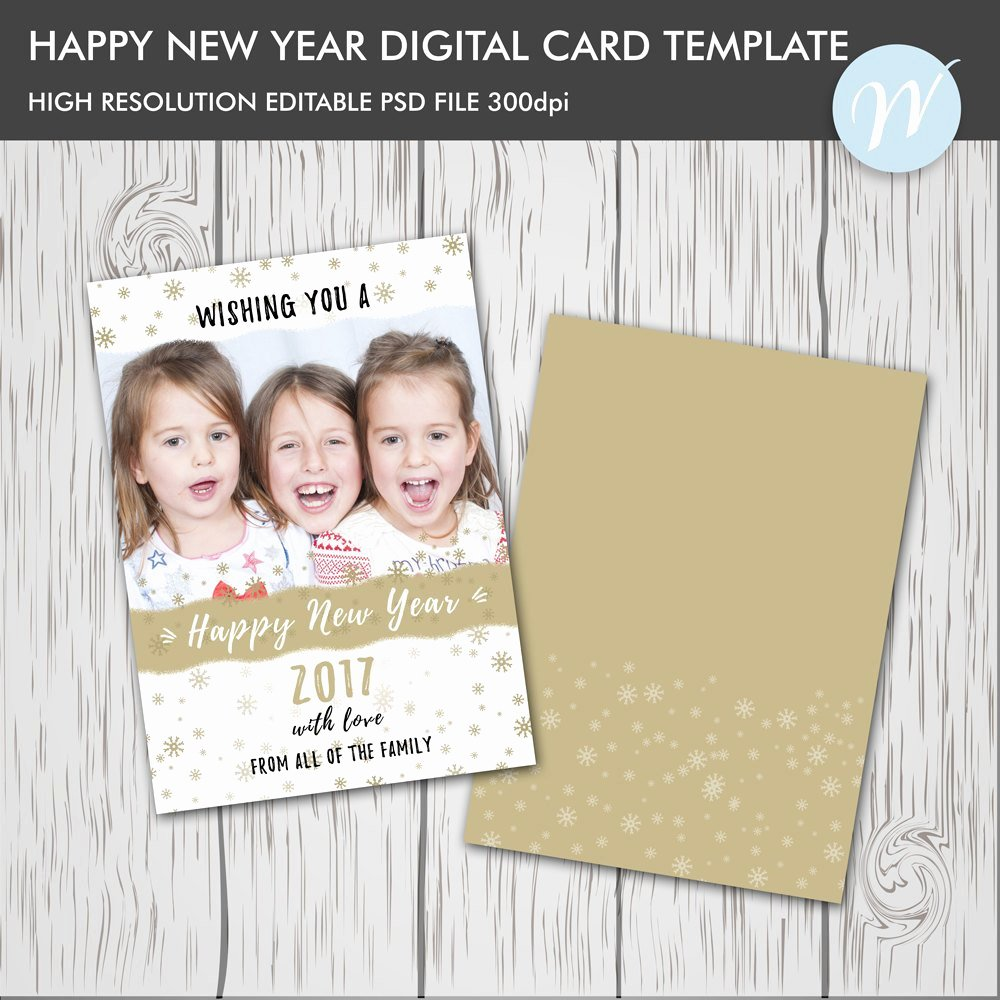 New Year Card Template Best Of Happy New Year Card Template Shop Editable Card New
