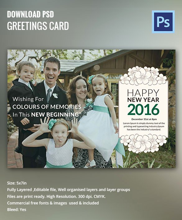 New Year Card Template Elegant 28 New Year Invitation Templates – Free Word Pdf Psd
