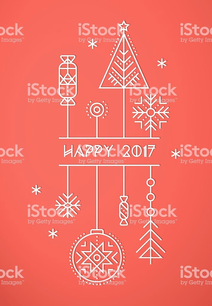 New Year Card Template Fresh Merry Christmas and Happy New Year Greeting Card Template