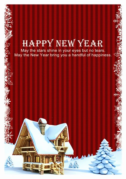 New Year Card Template Fresh New Year Card Templates