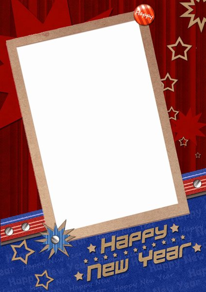 New Year Card Template Lovely Happy New Year Template Card