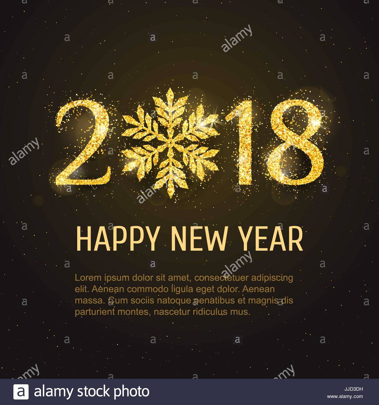 New Year Card Template Luxury Vector 2018 Happy New Year and Merry Christmas Greeting