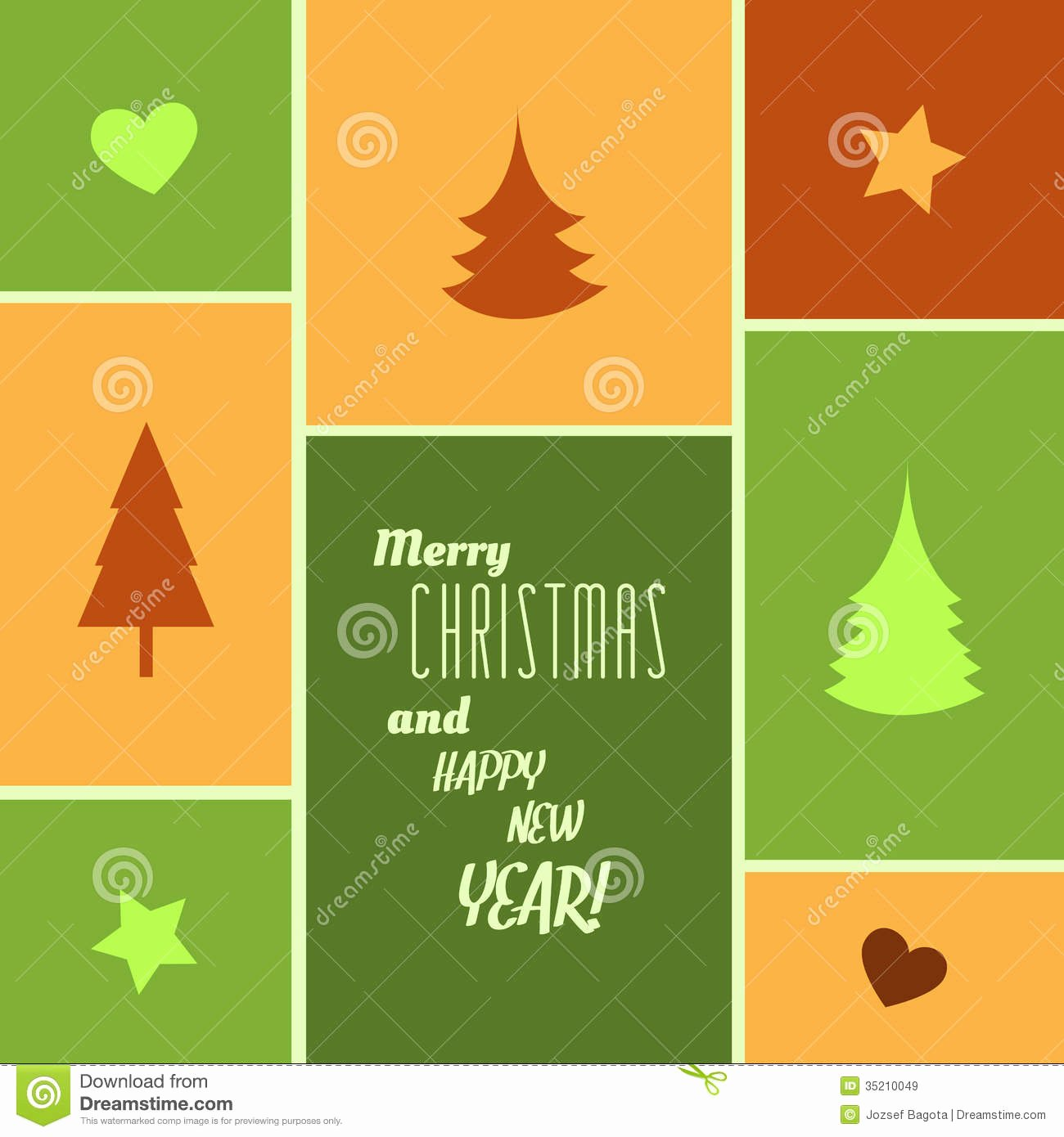 New Year Card Template Unique Christmas Card Stock Vector Image Of Line Corporate