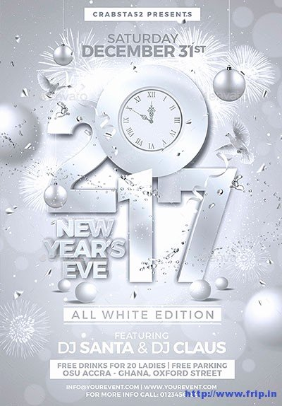 New Year Flyer Template Beautiful 85 Best New Year Flyer Print Templates 2017
