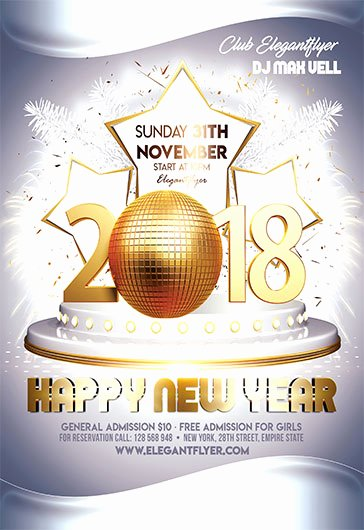 New Year Flyer Template Beautiful New Year Eve – Free Flyer Psd Template – by Elegantflyer