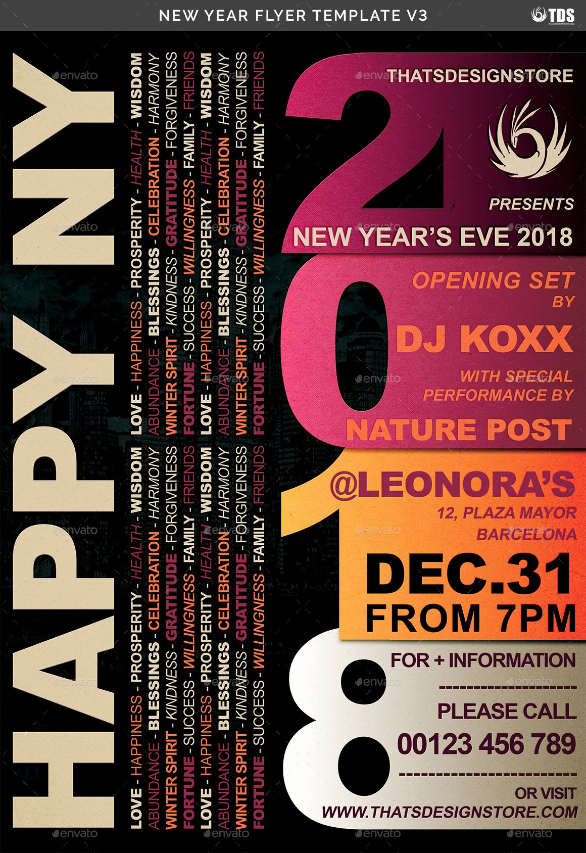 New Year Flyer Template Beautiful New Year Flyer Template V3 by Lou606