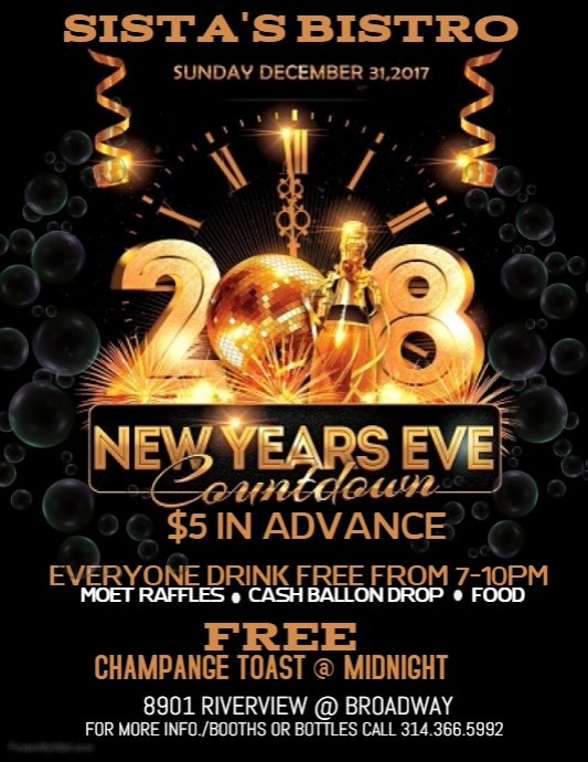 New Year Flyer Template Elegant New Years Eve Flyer Template