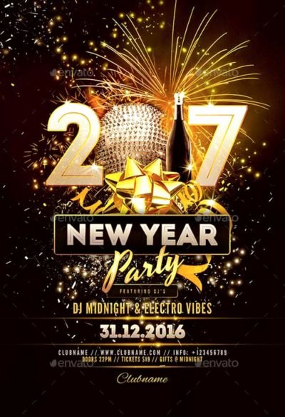 New Year Flyer Template Fresh Ffflyer