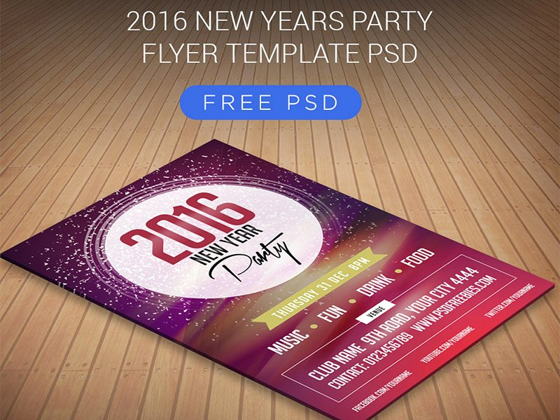 New Year Flyer Template Fresh Freebie 2016 New Years Party Flyer Template Psd by Psd