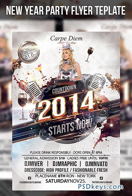 New Year Flyer Template Fresh New Year Party Flyer Template Free Download