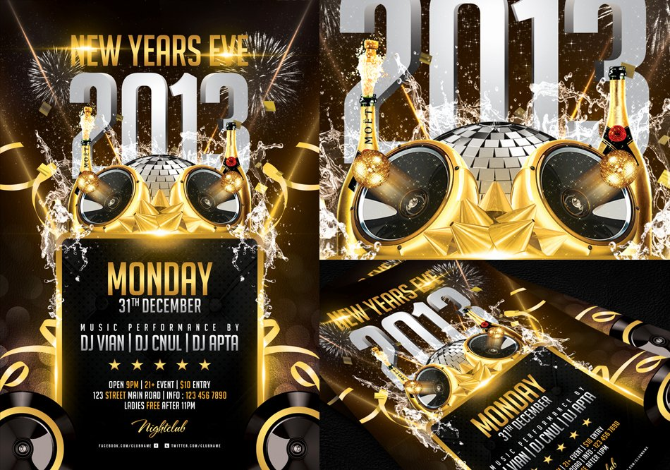 New Year Flyer Template Fresh New Years Eve Flyer Template by Angkalimabelas On Deviantart