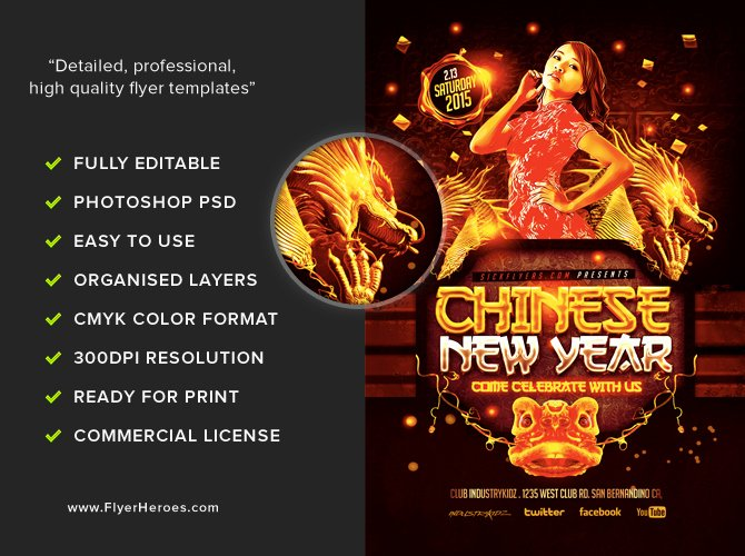 New Year Flyer Template Inspirational Chinese New Year Flyer Template Flyerheroes