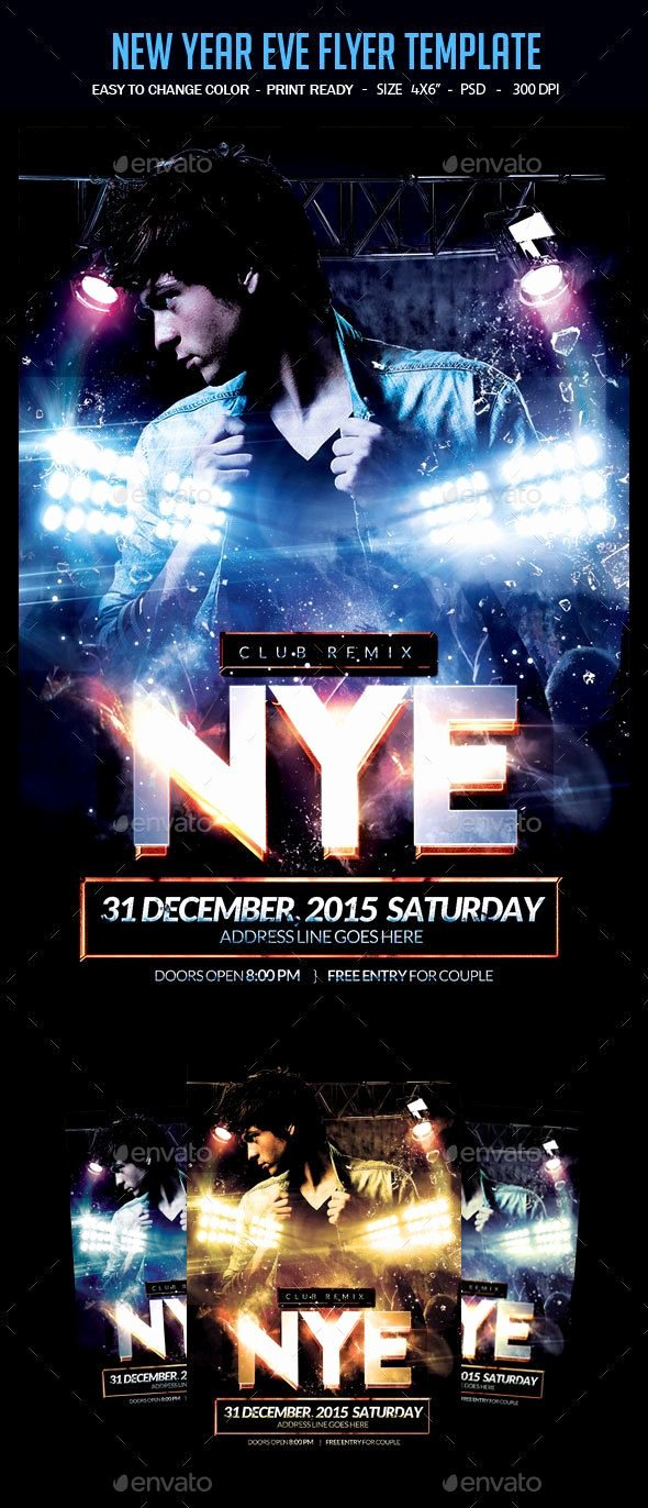 New Year Flyer Template Unique New Year Eve Flyer Template