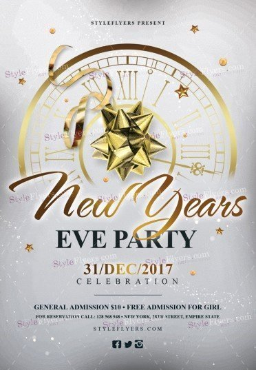 New Year Flyer Template Unique New Year's Eve Party Psd Flyer Template Styleflyers
