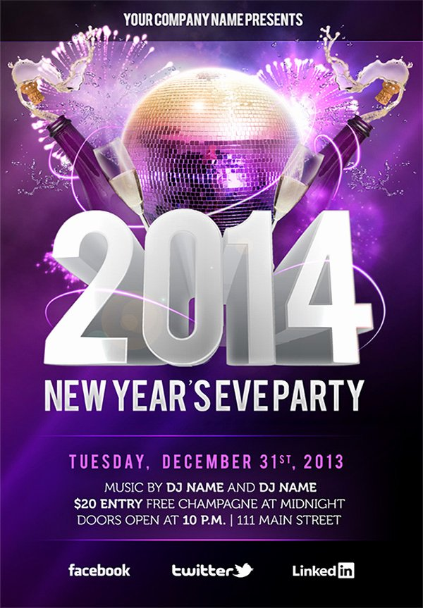 New Year Flyers Template Awesome Free New Year's Eve Psd Party Flyer Template Download On