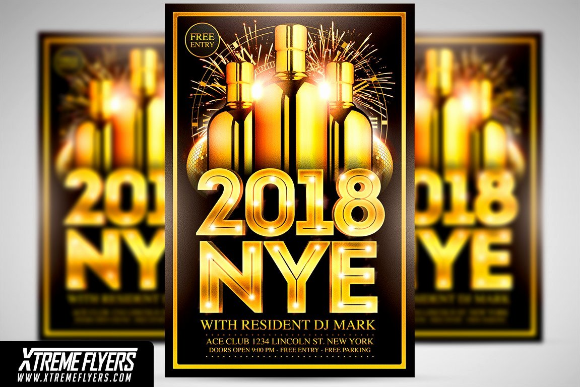 New Year Flyers Template Awesome New Years Eve Flyer Template Flyer Templates Creative