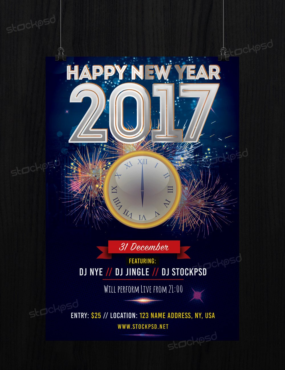New Year Flyers Template Beautiful 2017 Free New Years Eve Free Psd Flyer Template Free