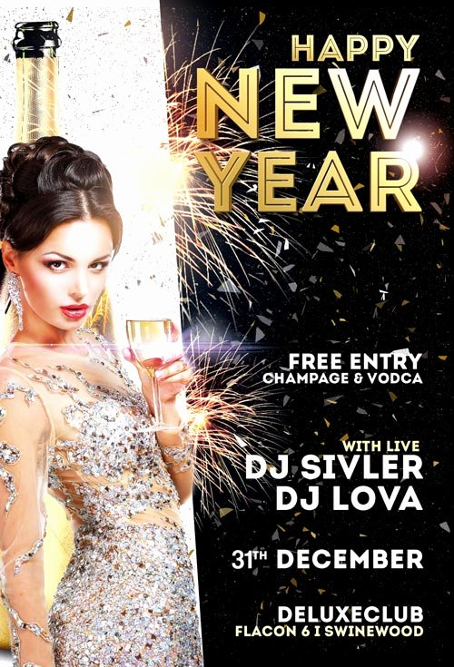New Year Flyers Template Beautiful Happy New Year Flyer Template Vol 2