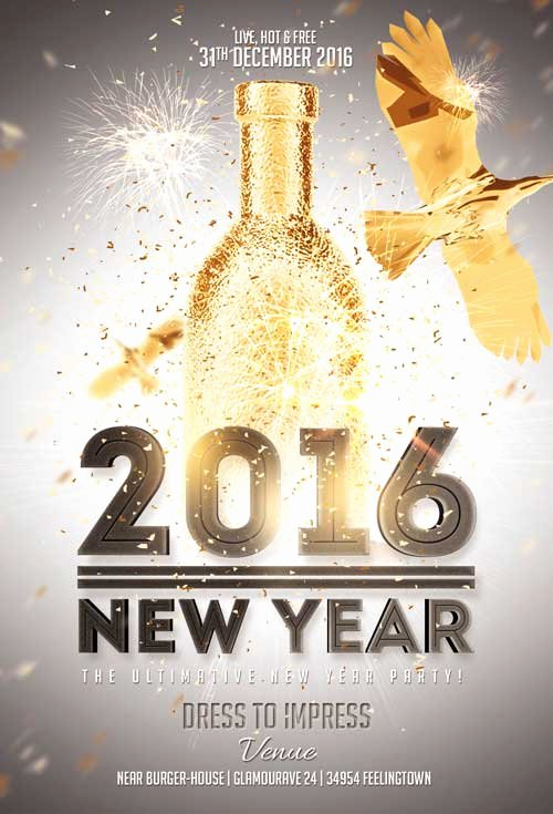 New Year Flyers Template Best Of New Year Gold Vol 2 Flyer Template