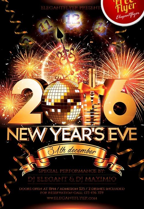New Year Flyers Template Fresh New Year Eve Free Psd Flyer Template Download for Shop