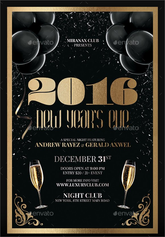 New Year Flyers Template Inspirational 35 Amazing New Year Party Flyer Templates to Download