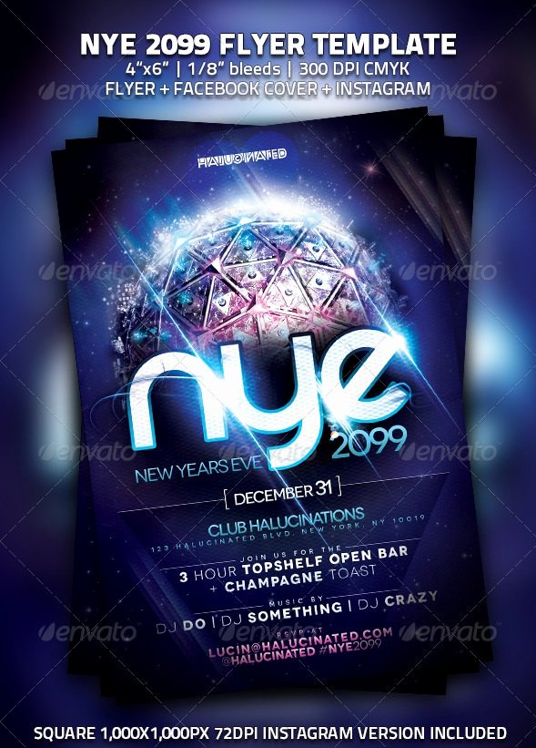 New Year Flyers Template Luxury 30 Best New Year Flyers Of 2013 56pixels
