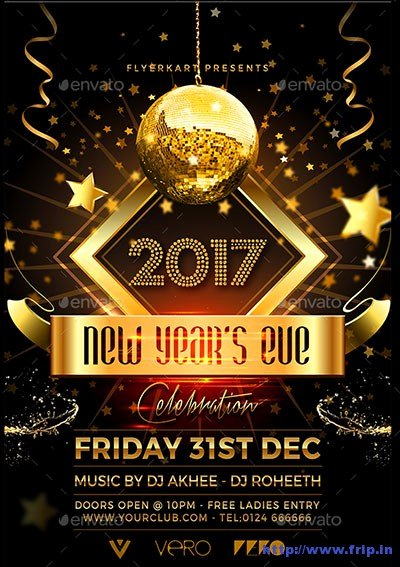 New Year Flyers Template New 85 Best New Year Flyer Print Templates 2017
