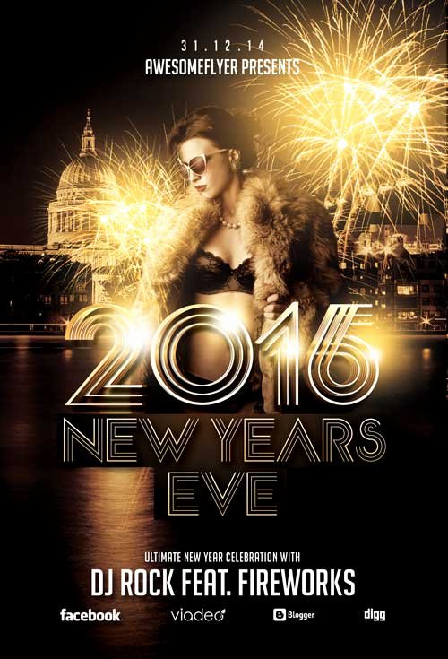 New Year Flyers Template New New Year Celebration Flyer Template