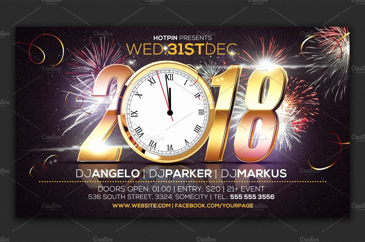New Year Flyers Template New New Year Eve Party Flyer Template Flyer Templates