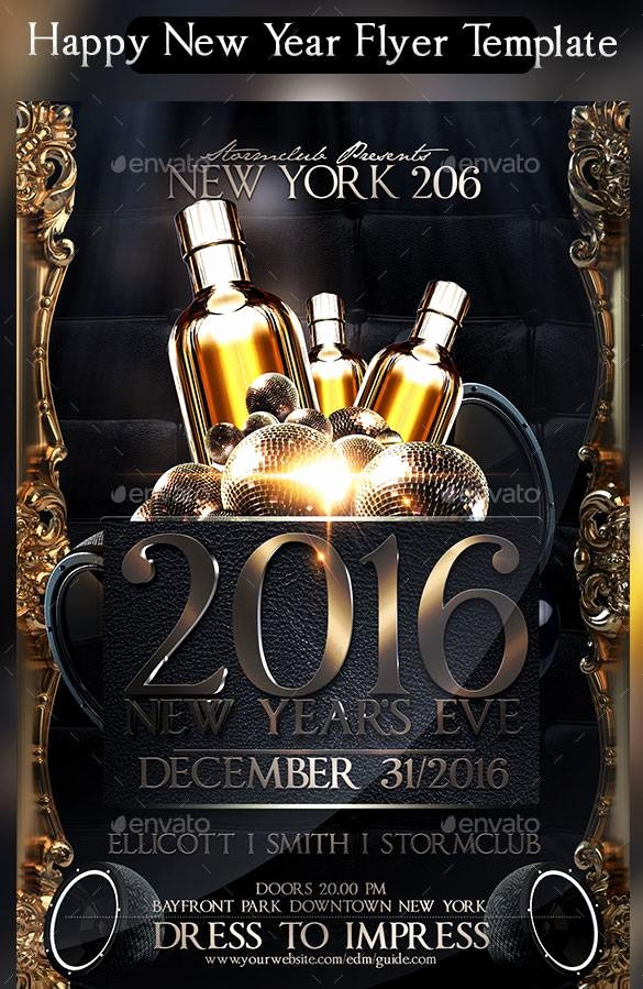 New Year Flyers Template Unique 20 New Year Flyer Templates Free Download
