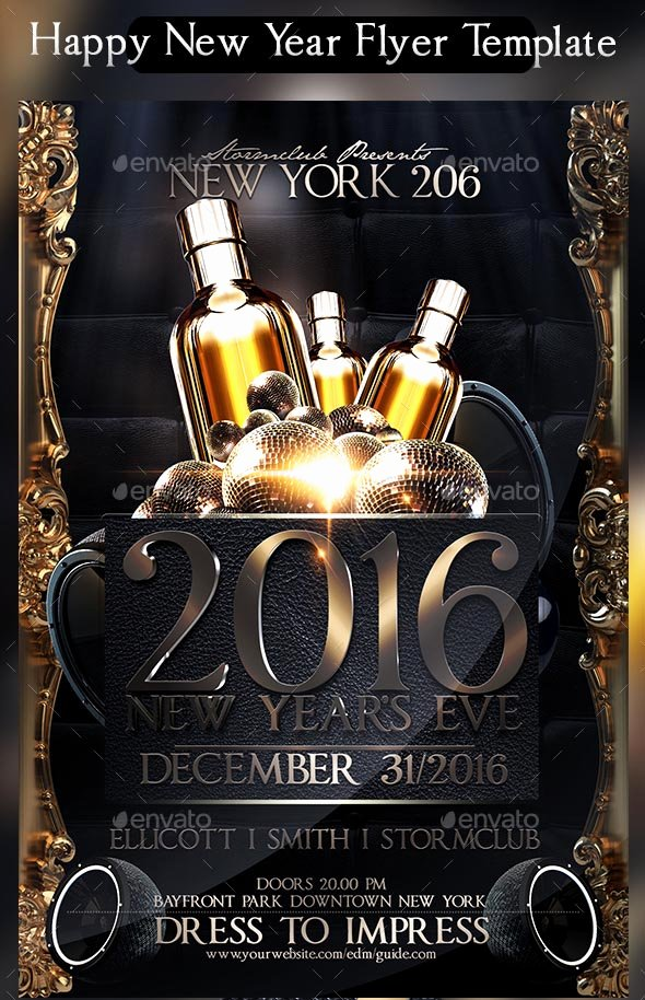 New Year Flyers Template Unique Search 100 Stunning New Year Flyer Templates 2018