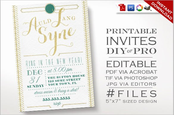 New Year Invitation Template Awesome 28 New Year Invitation Templates – Free Word Pdf Psd