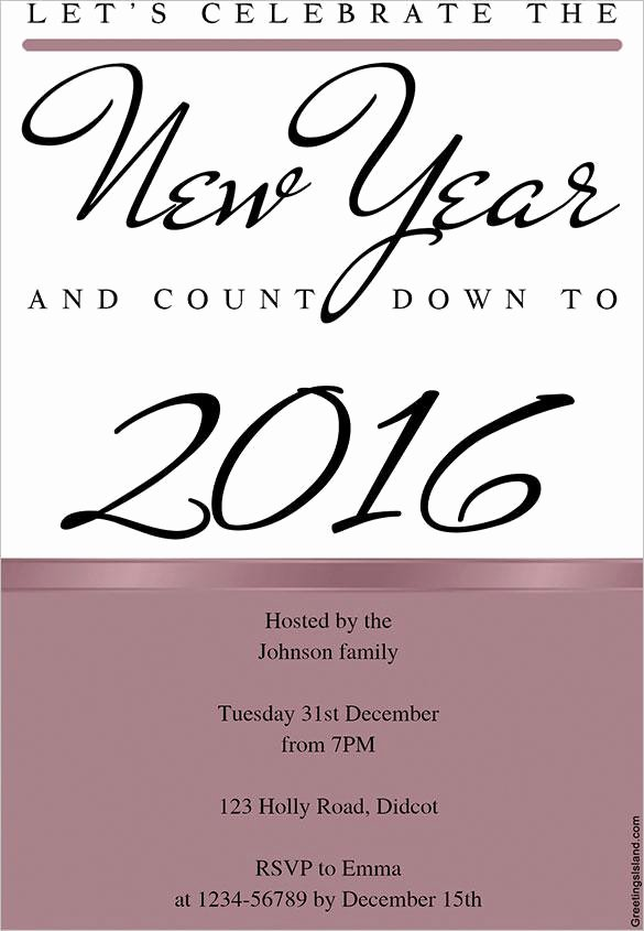 New Year Invitation Template Beautiful 16 New Year Invitation Templates Free Download