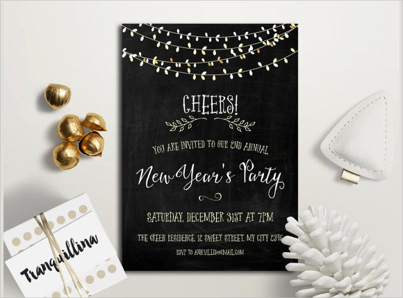 New Year Invitation Template Fresh 25 New Year Invitation Templates to Download
