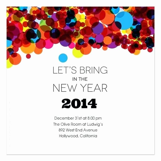 New Year Invitation Template Inspirational New Year Party Invitation Template New Year Party