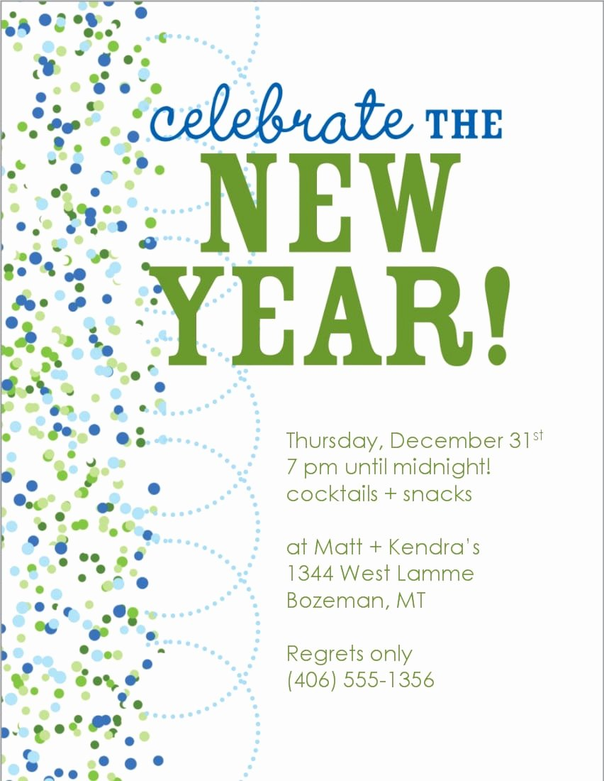 New Year Invitation Template Inspirational New Years Eve Invitations Free