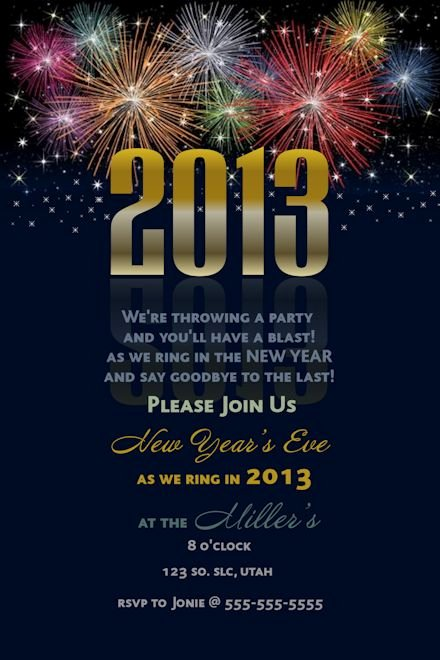New Year Invitation Template Inspirational New Years Eve Party Invitation Template – orderecigsjuicefo