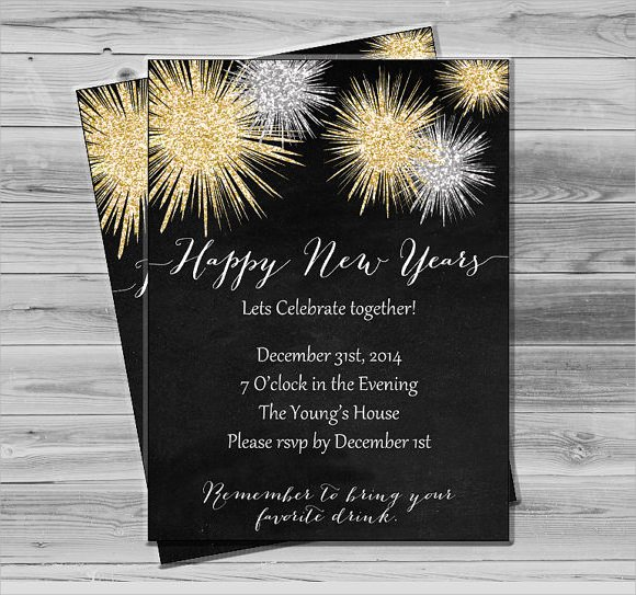 New Year Invitation Template Lovely 25 New Year Invitation Templates to Download